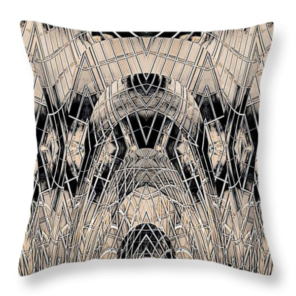Chrome Throw Pillow by Tim Allen