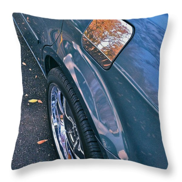 Chrome Tree Throw Pillow by Bill Owen