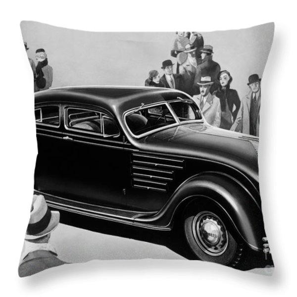 Chrysler Airflow Throw Pillow by Photo Researchers