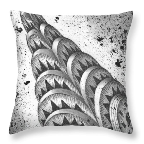 Chrysler Spire Throw Pillow by Adam Zebediah Joseph