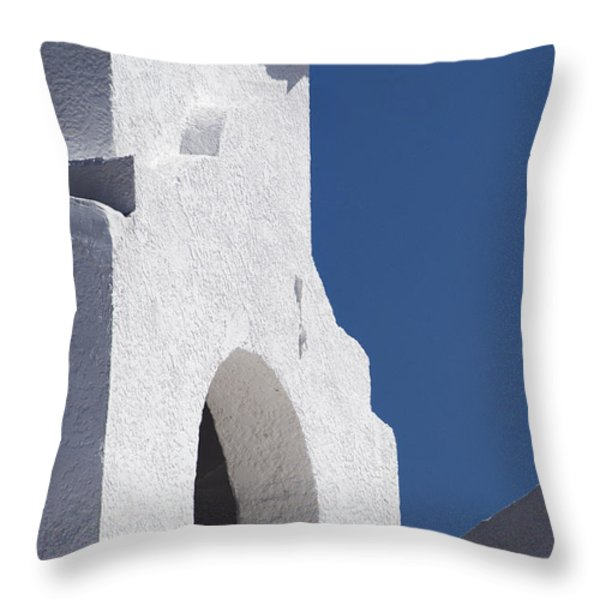 Church Bell Tower Chacras De Coria Throw Pillow by Philippe Widling