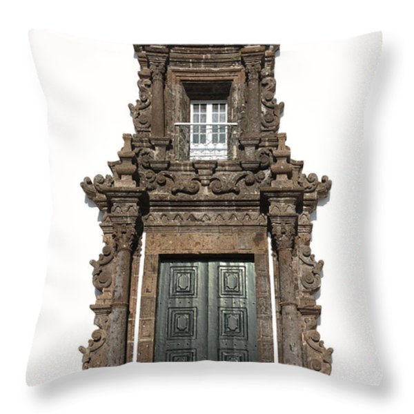 Church Door Throw Pillow by Gaspar Avila