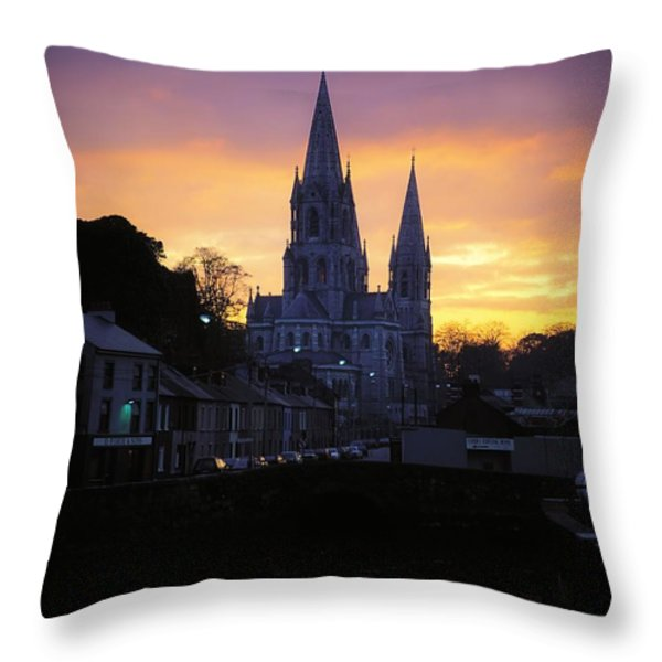 Church In A Town, Ireland Throw Pillow by The Irish Image Collection