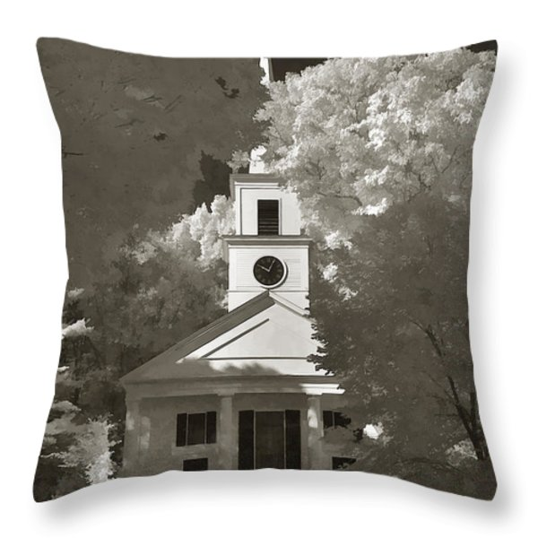 Church In Infrared Throw Pillow by Joann Vitali