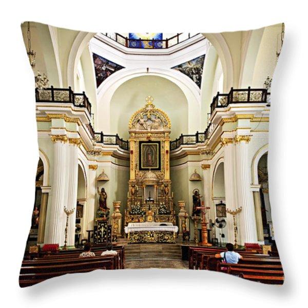Church interior in Puerto Vallarta Throw Pillow by Elena Elisseeva