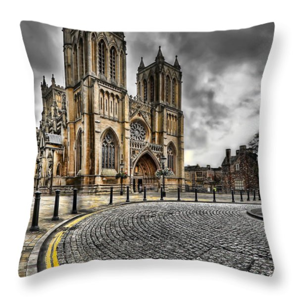 Church Of England Throw Pillow by Adrian Evans