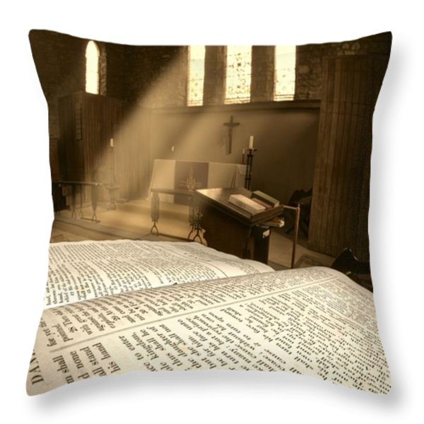 Church, Rosedale, West Yorkshire Throw Pillow by John Short