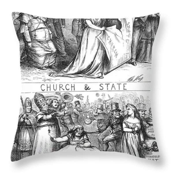 Church/state Cartoon, 1870 Throw Pillow by Granger