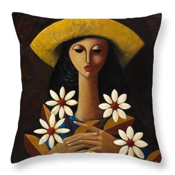 Cinco Margaritas Throw Pillow by Oscar Ortiz
