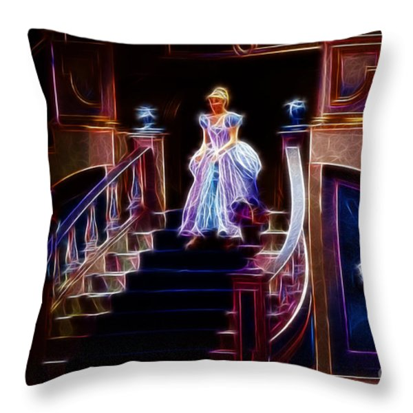 Cinderella enters the ball Throw Pillow by Darleen Stry