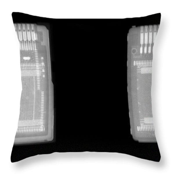 Circuit Boards Throw Pillow by Ted Kinsman
