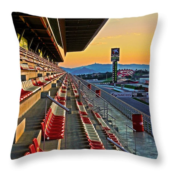 Circuit de Catalunya - Barcelona  Throw Pillow by Juergen Weiss