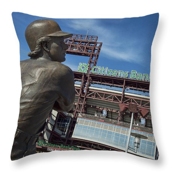 Citizans Bank Park Throw Pillow by John Greim