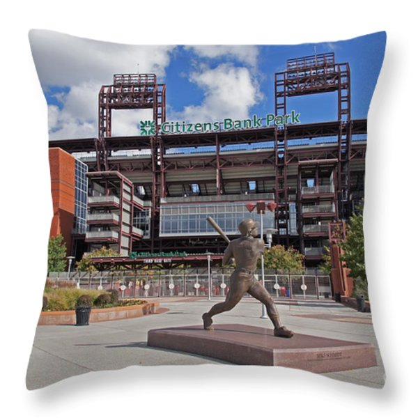 Citizens Park 2 Color Throw Pillow by JACK PAOLINI