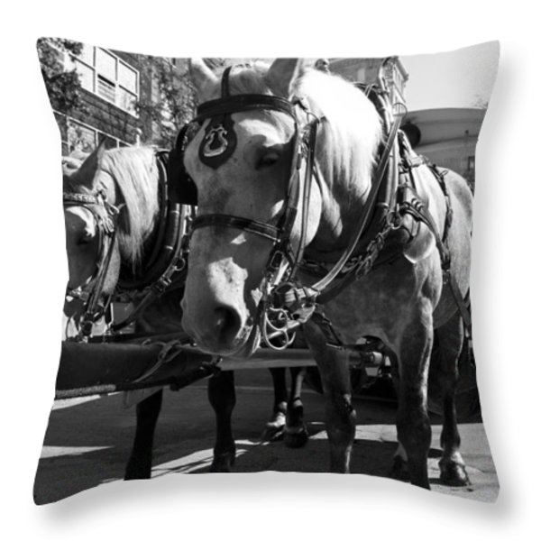 City Life Throw Pillow by Betsy A  Cutler