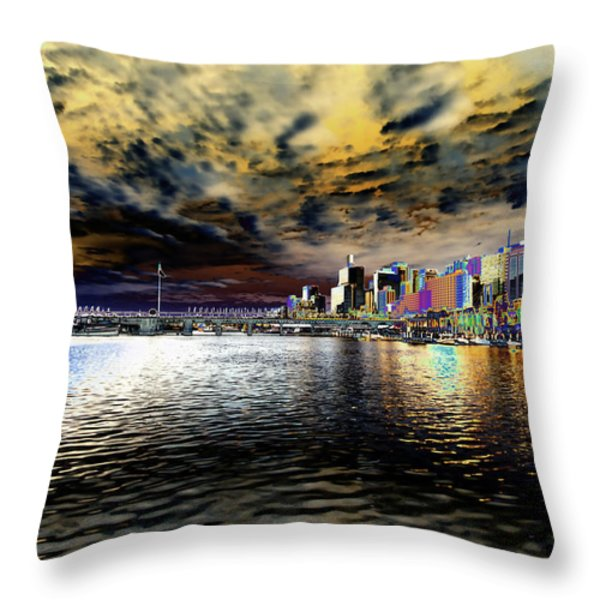 City Of Color Throw Pillow by Douglas Barnard