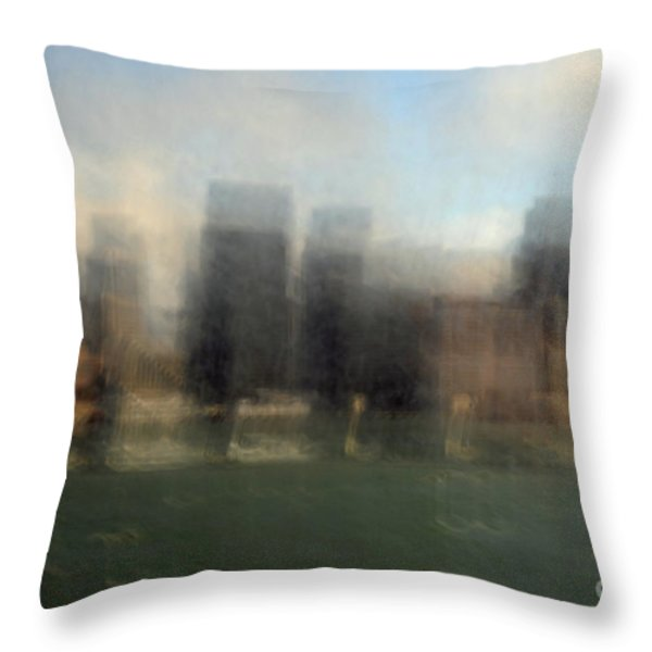 city view through window Throw Pillow by Catherine Lau