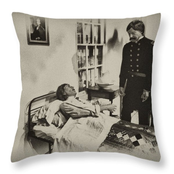 Civil War Hospital Throw Pillow by Bill Cannon