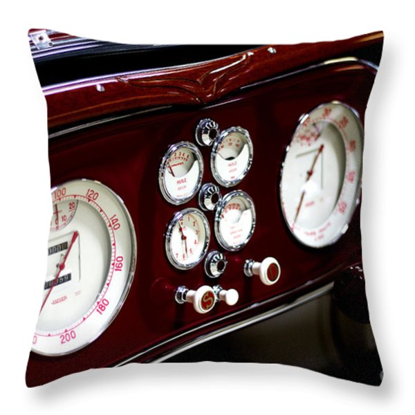 Classic Gauges Throw Pillow by Jason Abando