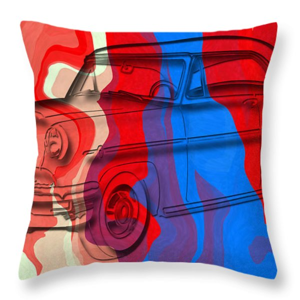 Classic Mercury Abstract Throw Pillow by David G Paul