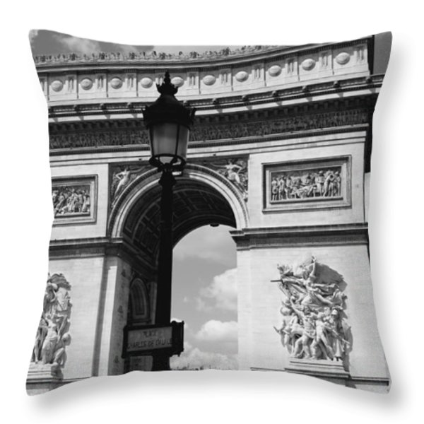 Classic Paris 6 Throw Pillow by Andrew Fare