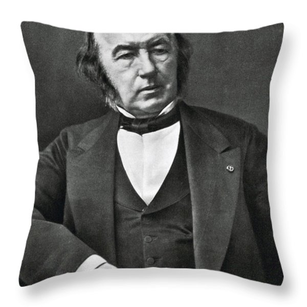 Claude Bernard, French Physiologist Throw Pillow by Photo Researchers