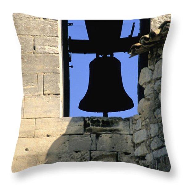 Clocher de Lourmarin village du Luberon Throw Pillow by BERNARD JAUBERT