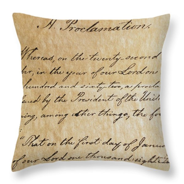 Close-up Of A Copy Of The Emancipation Throw Pillow by Todd Gipstein
