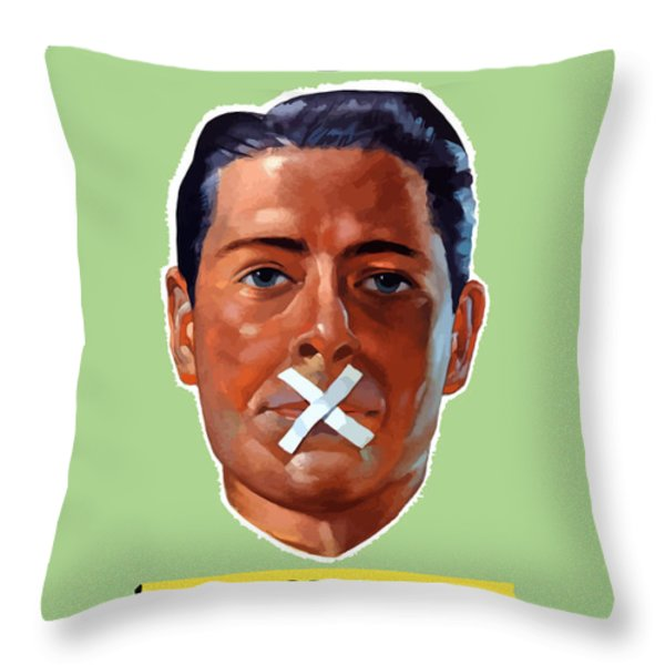 Closed For The Duration Throw Pillow by War Is Hell Store