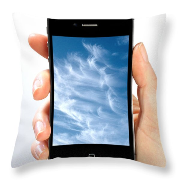 Cloud Computing Throw Pillow by Photo Researchers