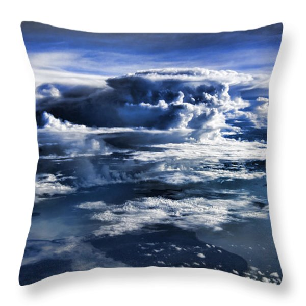 Cloud Formations V2 Throw Pillow by Douglas Barnard