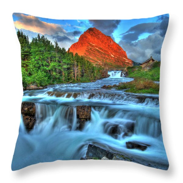 Clouds And Waterfalls Throw Pillow by Scott Mahon