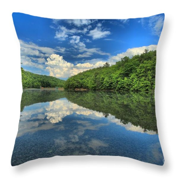 Clouds In The Lake Throw Pillow by Adam Jewell
