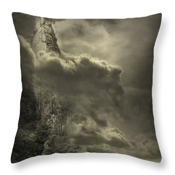 Cloudy Day Throw Pillow by Svetlana Sewell
