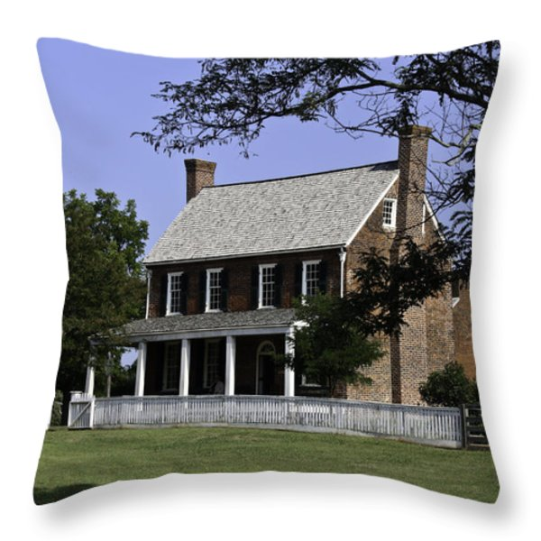 Clover Hill Tavern Appomattox Virginia Throw Pillow by Teresa Mucha
