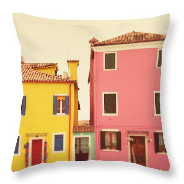 C'mon Get Happy Throw Pillow by Irene Suchocki