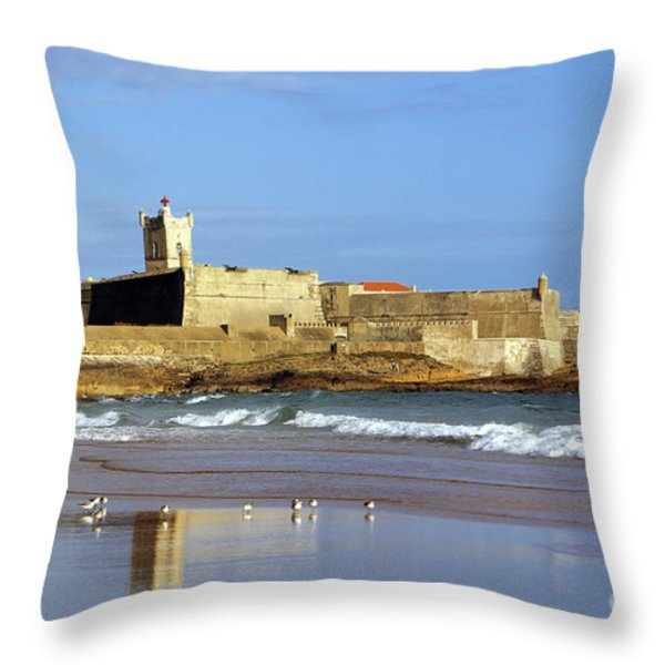 Coastal Defense Throw Pillow by Carlos Caetano