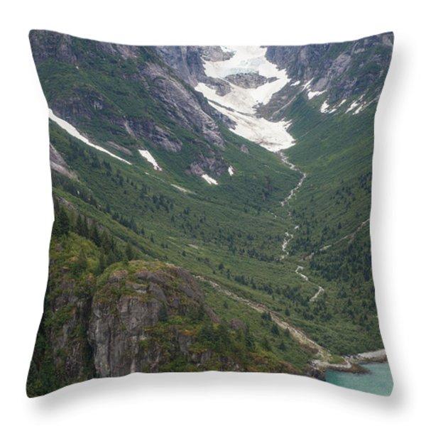 Coastal Flow Throw Pillow by Mike Reid