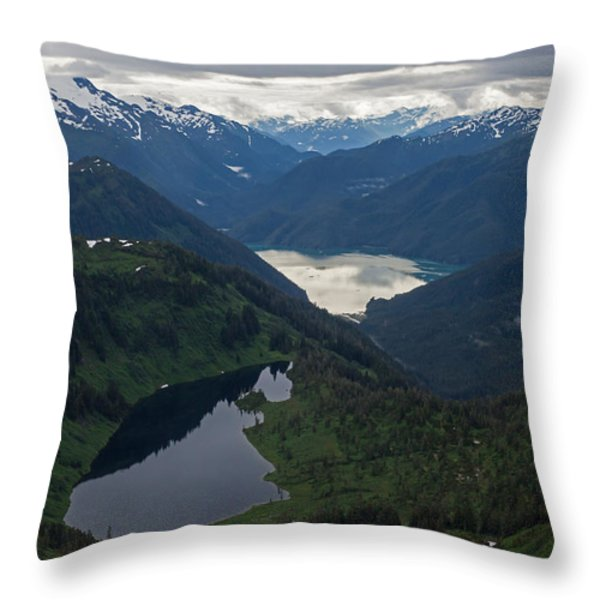 Coastal Range Tranquility Throw Pillow by Mike Reid