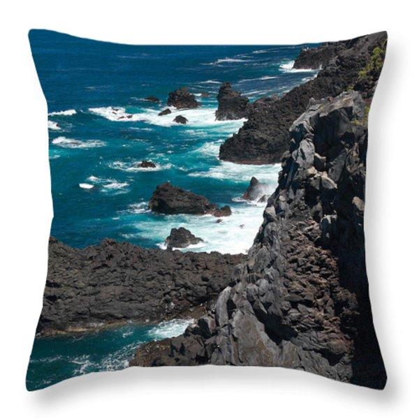 Coastline Throw Pillow by Gaspar Avila