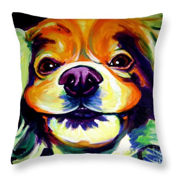 Cocker Spaniel - Cheese Throw Pillow by Alicia VanNoy Call