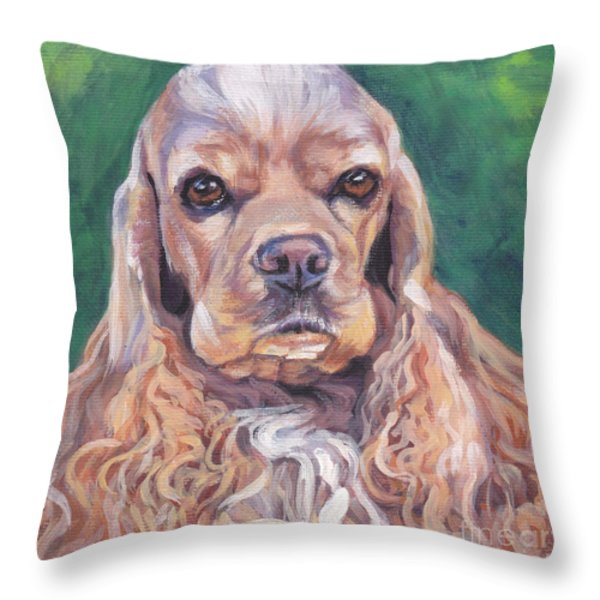 Cocker spaniel Throw Pillow by Lee Ann Shepard