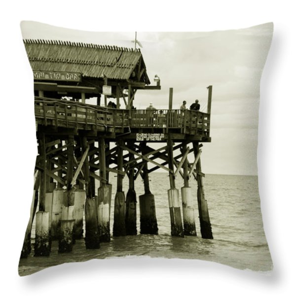 Cocoa Beach FL II Throw Pillow by Susanne Van Hulst