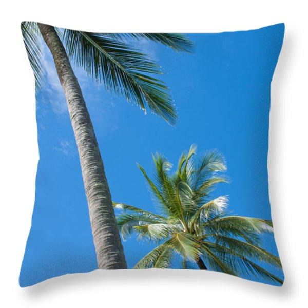 Coconuts  Throw Pillow by Atiketta Sangasaeng