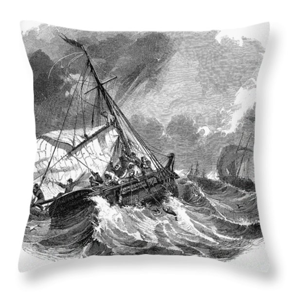 Cod Fishing, 1876 Throw Pillow by Granger