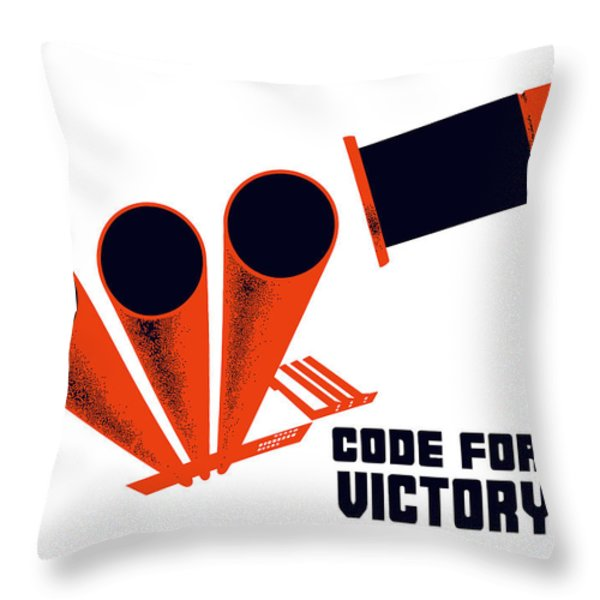 Code For Victory Throw Pillow by War Is Hell Store