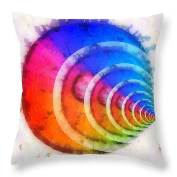 Code Of Colors 8 Throw Pillow by Angelina Vick