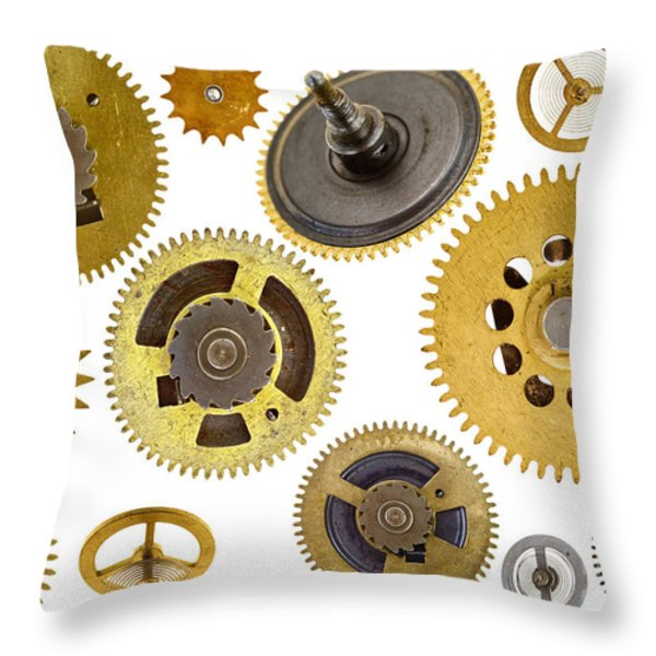 cogwheels - gears Throw Pillow by Michal Boubin