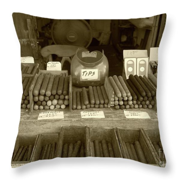 Cohiba Throw Pillow by Debbi Granruth