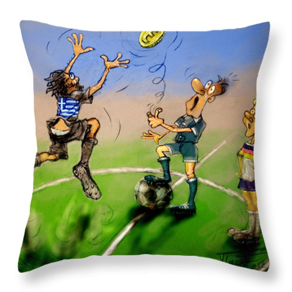 Coin Toss  Throw Pillow by Ylli Haruni
